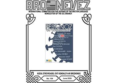 Bro Nevez (revue des bretons des USA) de juin 2020 est disponible en ligne